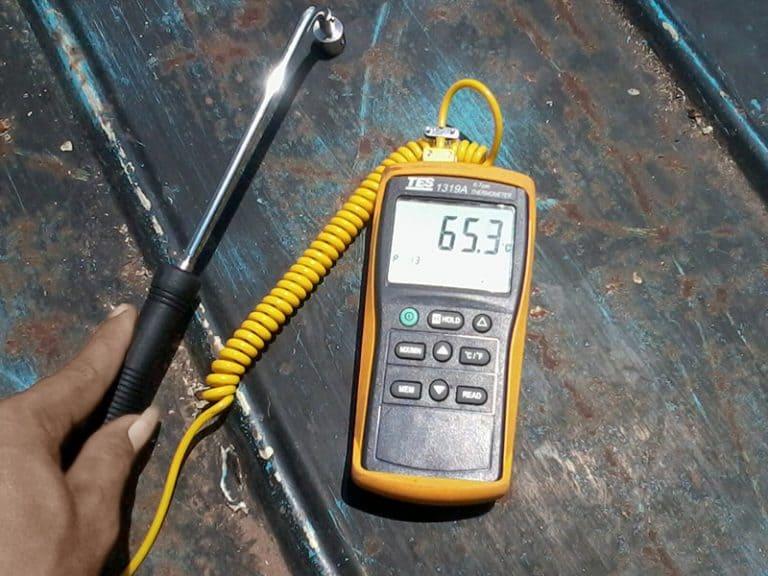 Heat test before applying KK699